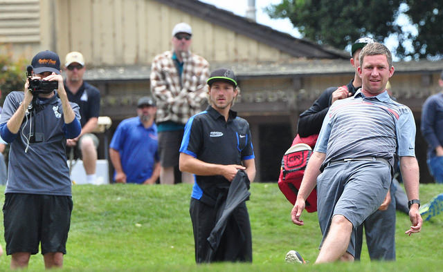 """Though this photo shows otherwise, Nate Sexton is the best on tour at being able to avoid going """"on tilt."""" Photo: PDGA"""