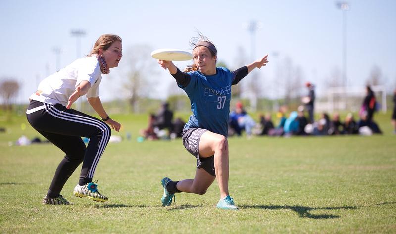 Michigan's Hannah Henkin at Centex 2016. Photo: Conrad Stoll -- UltiPhotos.com