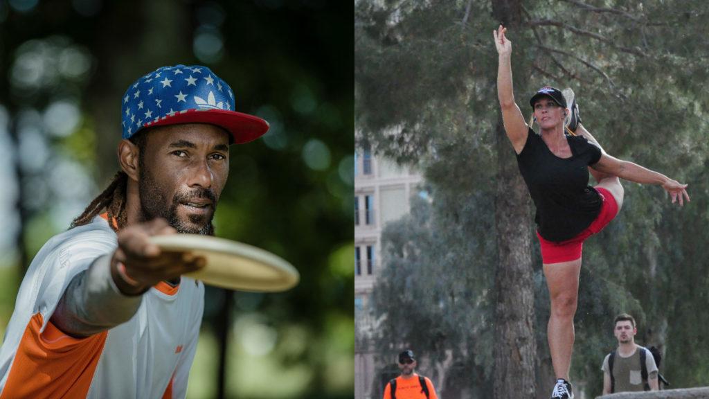 After strong 2016 seasons, Philo Brathwaite (left) and Jennifer Allen were elevated to Innova's Star Team. Photos: Innova Discs/PDGA