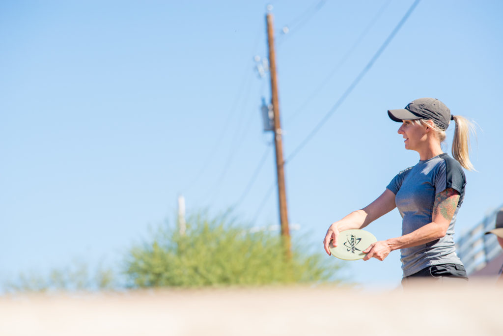 Catrina Allen did Catrina Allen things at this weekend's Phoenix Ladies Open. Photo: Shayne Holley