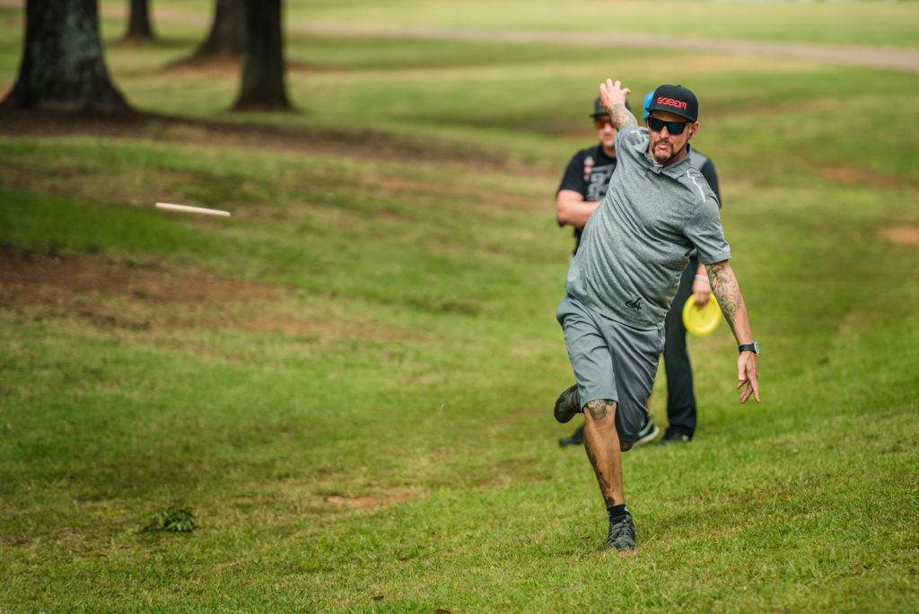 Patrick Brown is tied with McMahon for the early lead. Photo: Eino Ansio, Disc Golf World Tour